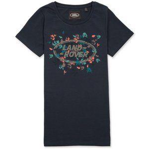 Land Rover Botanical Navy Tee Women's T shirt